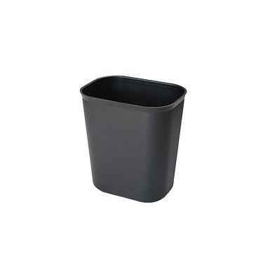 Plastic Dustbin, Black, Non-Combustible, 23x16xH26cm