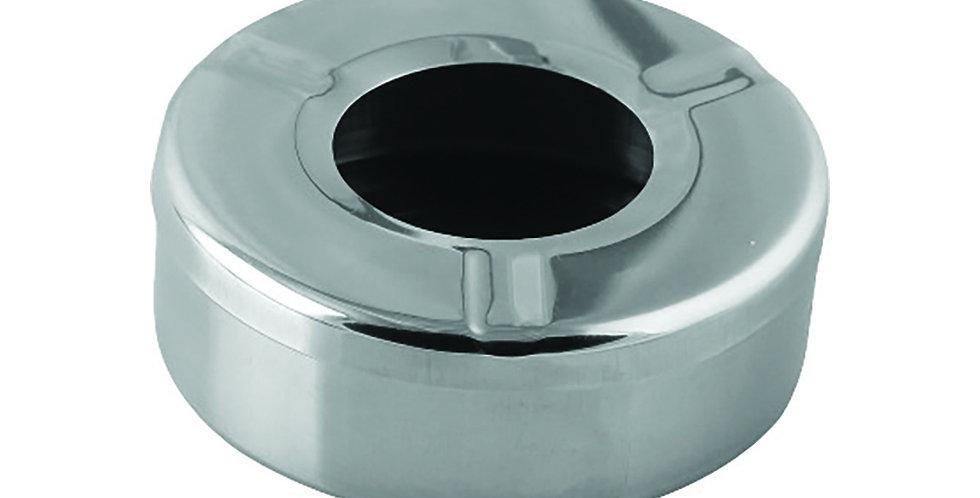 Ashtray, Windproof, Round, Inox, Ø10x5.5cm