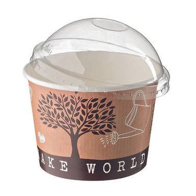 Bowl Leone, Paper+PE, Make the World Different, 1000 pcs, Ø12x9.5cm, 580ml