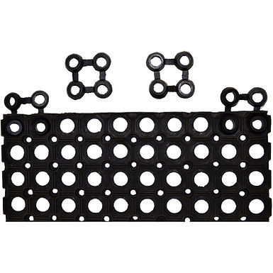 Connection Part for Ring Rubber Doormats, Black, 8x8cm