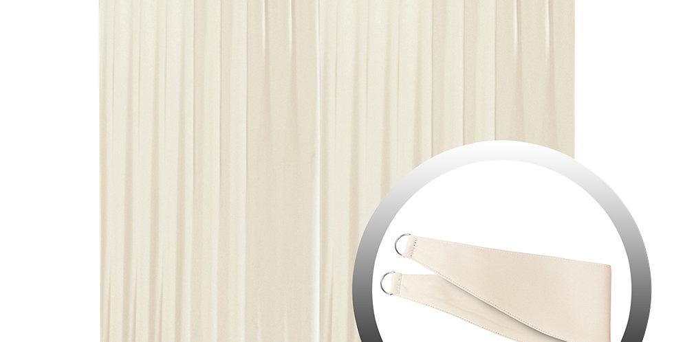 Blackout Curtain with 1 Tie, Beige, 295x250cm