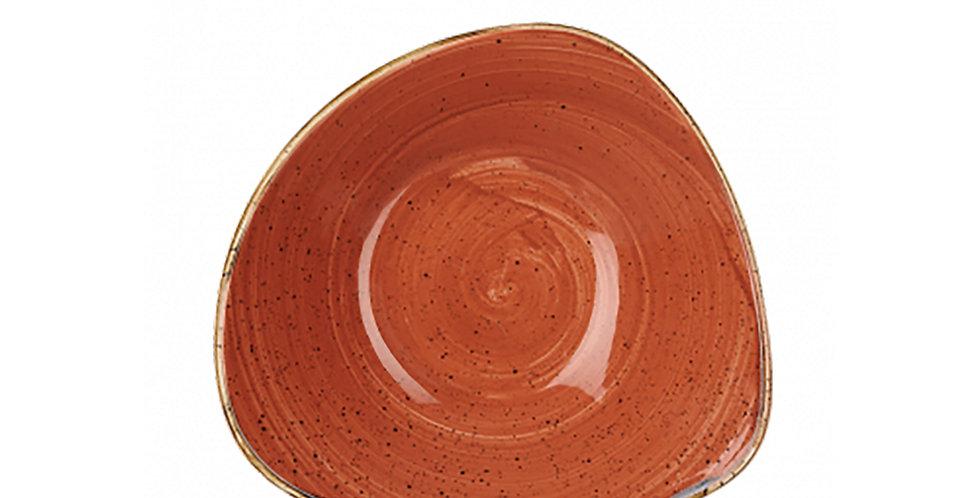 Bowl Churchill Stonecast, Triangle, Spiced Orange