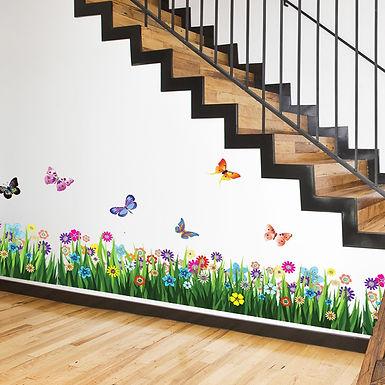 British Colourful Butterflies Grasses WALPLUS, Sticker, 170x50cm