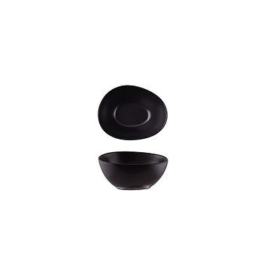 Bowl Alar Sílice Omega, Porcelain, Black, 14cm