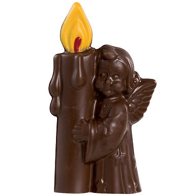 Angel with Candle Mold Martellato 3D Christmas, Thermoformed Plast., 3 pcs, 80mm