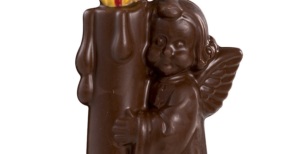Angel with Candle Mold Martellato 3D Christmas, Thermoformed Plastic, 175mm
