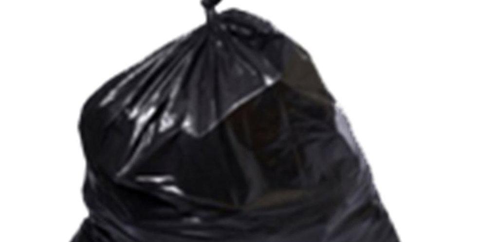 Garbage Bag, Odorless, 80μ, Black, 1kg(~9pcs) of 85x110cm Bags