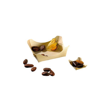 Disposable Mini Bowl First Pack, Square, Biodegradable, Wood, 59ml, 7.5x7.5x3cm