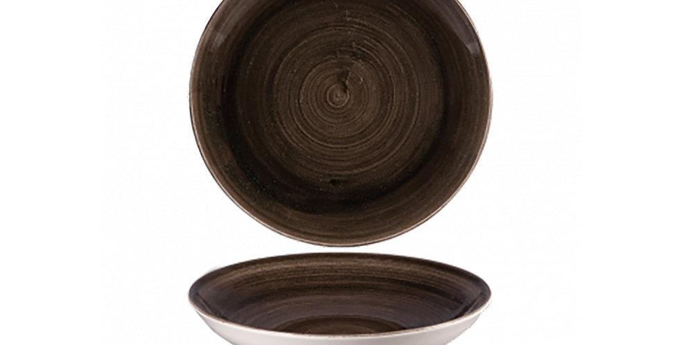 Deep Plate Churchill Stonecast Patina, Round, Iron Black