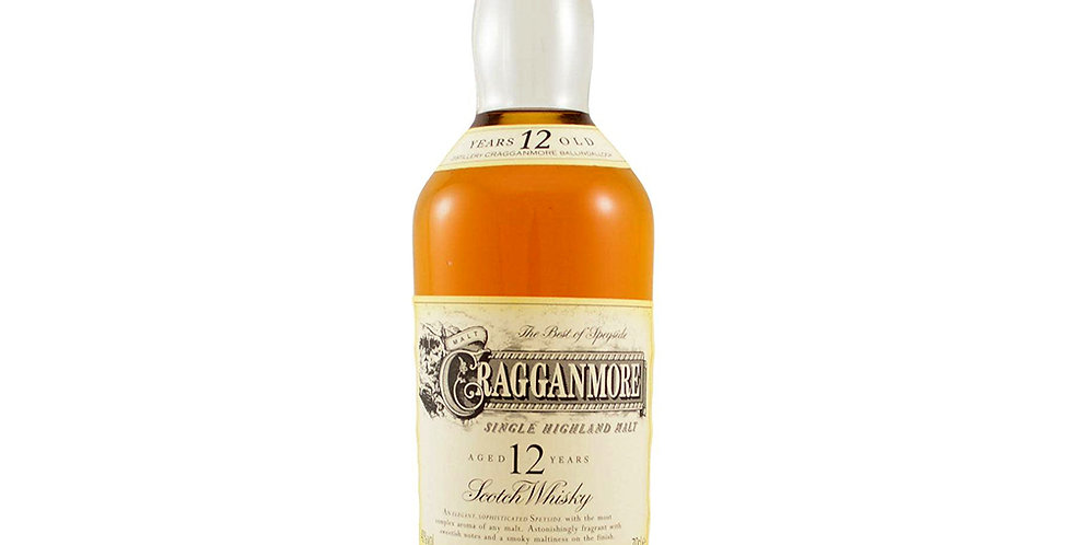 Cragganmore Aged 12 Years Scotch Whisky, 700ml