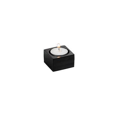 Candle Holder Leone, Bamboo, Black, 6 pcs, 5x5x3cm
