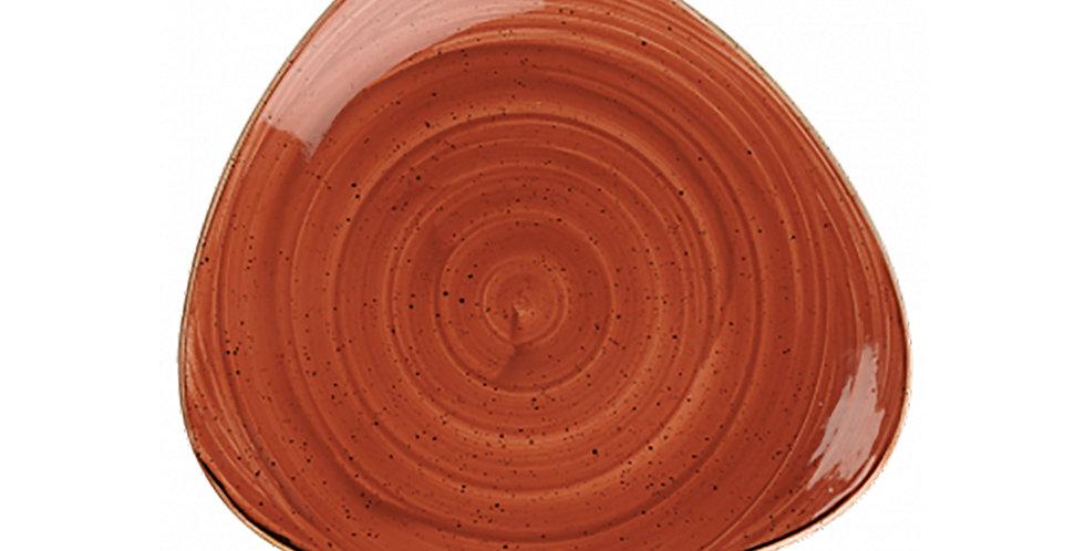 Flat Plate Churchill Stonecast, Triangle, Spiced Orange