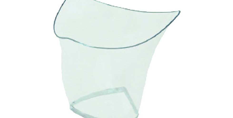 Disposable Cups, Wavy Triangular, PS, 200ml, 50pcs