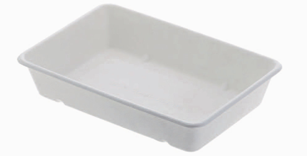 Deep Tray Leone, Biodegradable Cellulose Pulp, 50 pcs, 23x15.5x4.5cm, 800ml