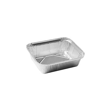 Aluminum Container for Takeaway/Delivery, 162x132x42mm, 690ml