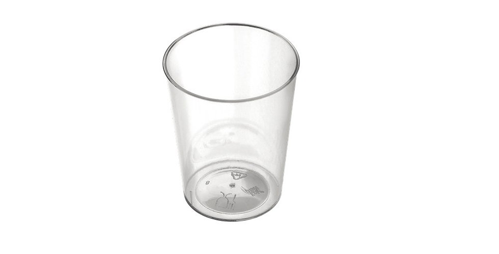 Disposable Finger Food Cup Goldplast Les Chics, Transparent,PS, Ø4.2x5.3cm, 50ml