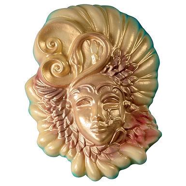 Carnival Mask Chocolate Mold Martellato, Thermoformed Plastic, 135x175x40mm