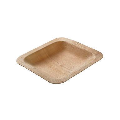 Square Plate Leone Fingerfood Legno, Wood, 24 pcs, 11.5x11.5x1.5cm
