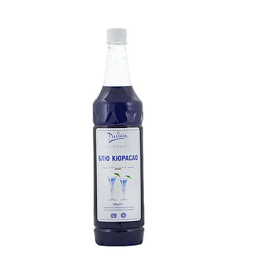 Blue Curacao Syrup Delicia, 1.3kg PET Bottle