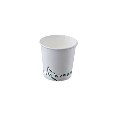 Single Wall Cup Leone Street Food, Compostable CPLA, 1000 pcs, 115ml