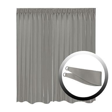 Blackout Curtain with 1 Tie, Dark Gray, 295x250cm