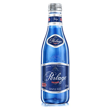 Carbonated Natural Mineral Water Perlage, Glass Bottle, 300ml