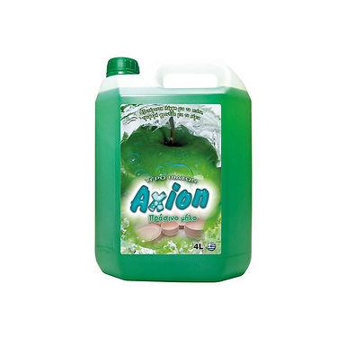 Liquid Dishwashing Detergent Axion, Green Apple Perfume, 4L