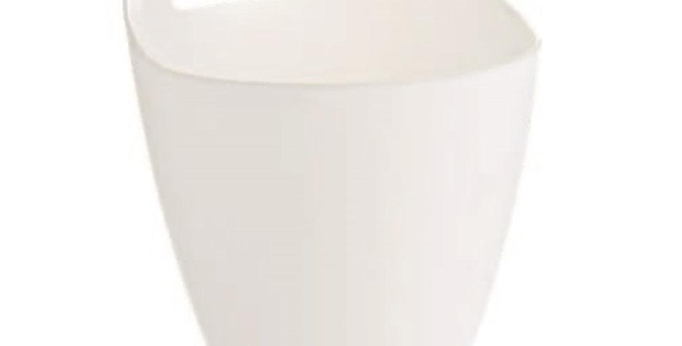 Bucket with Handle Leone, PS, White, 1 pc, Ø13x17cm, 1000ml