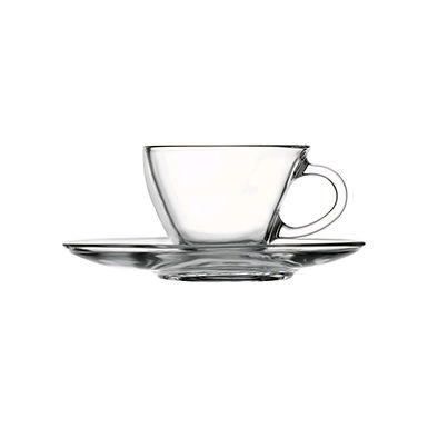 Espresso Cup Pasabahce Penguen, with Saucer, 90ml