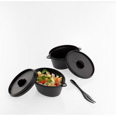 Casserole Leone Finger Food Kristal Party, PS, Black, 20 pcs, 9x6x4.5cm