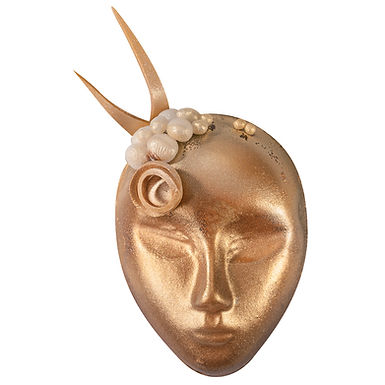 Carnival Mask Chocolate Mold Martellato, Thermoformed Plastic, 5 pcs, 50x65x20mm
