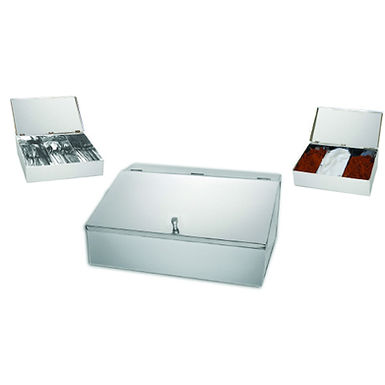 Coffee and Cutlery Container, Inox, 33x24x10cm, 2 Types