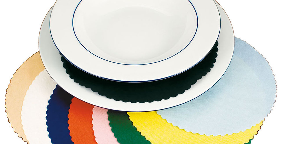 Plate Cover Leone, Paper, Burgundy, 200 pcs, Ø18cm