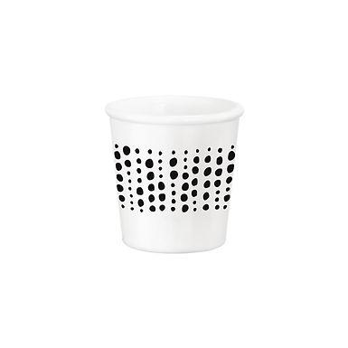 Caffeino Cup Bormioli Rocco Chiaroscuro Sfere Caffeino White, Opal Glass, 95ml