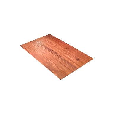 Rect. Tray Leone Wood, Easy Grip, Melamine, Brown, 1 pc, GN 1/2, 32x26x1.5cm