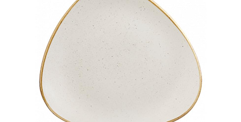 Flat Plate Churchill Stonecast, Triangle, Barley White