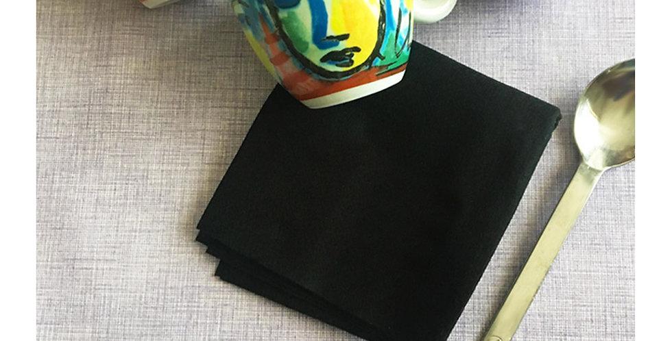 Napkin Optima Black, Biodegradable, 1000pcs, 1/4 Fold, 25x25cm