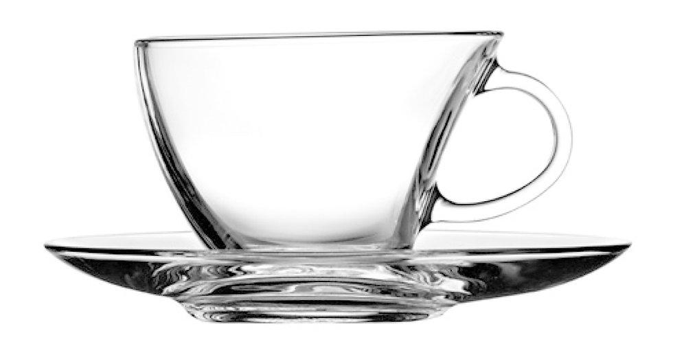 Tea Cup Pasabahce Penguen, with Saucer, 215ml