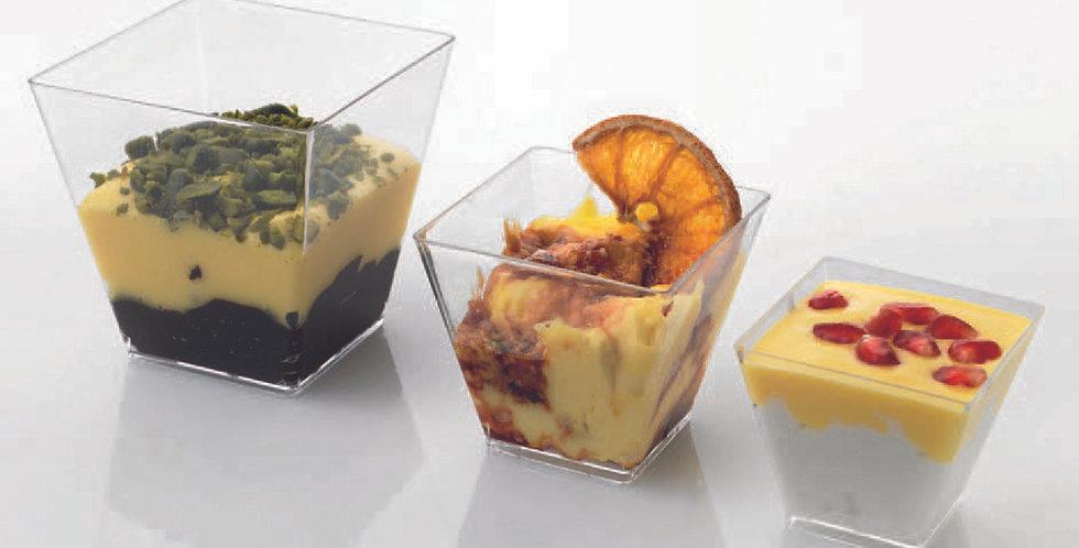 Small Cup 60cc Leone Finger Food Kristal Party, PS, Clear, 24 pcs, 5x5x4.5cm