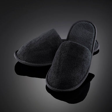 Black Terry Slippers Leone, 50pcs