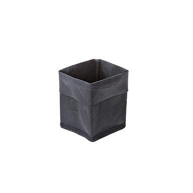 Bread Basket Leone, Paper, Black, 1 pc, 9x9x16cm