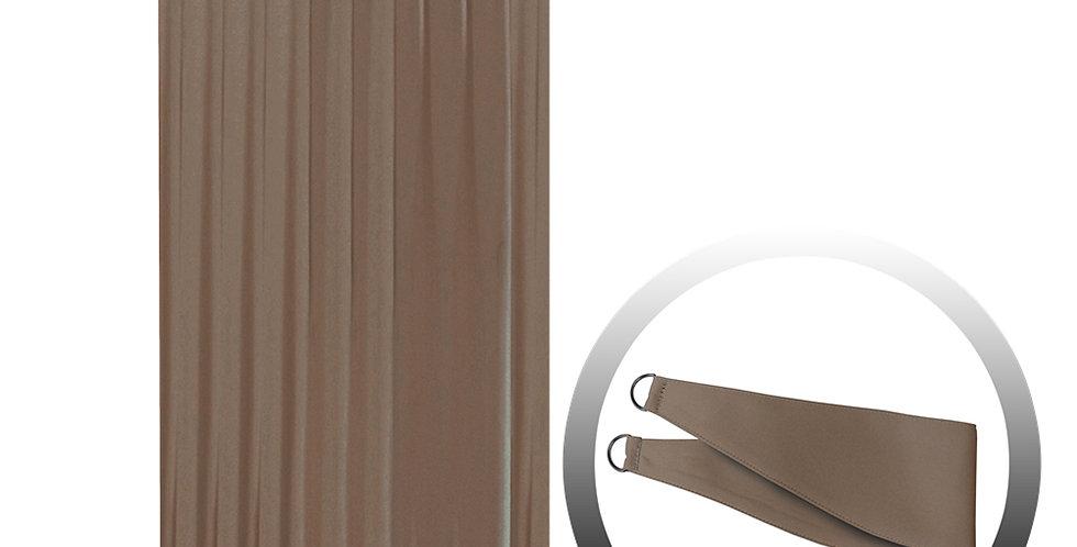 Blackout Curtain with 1 Tie, Dark Brown, 144x290cm