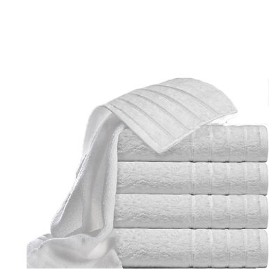 Face Towel Fragente, White, Stripes Pattern, 16/1, 550gr/m², 50x100cm