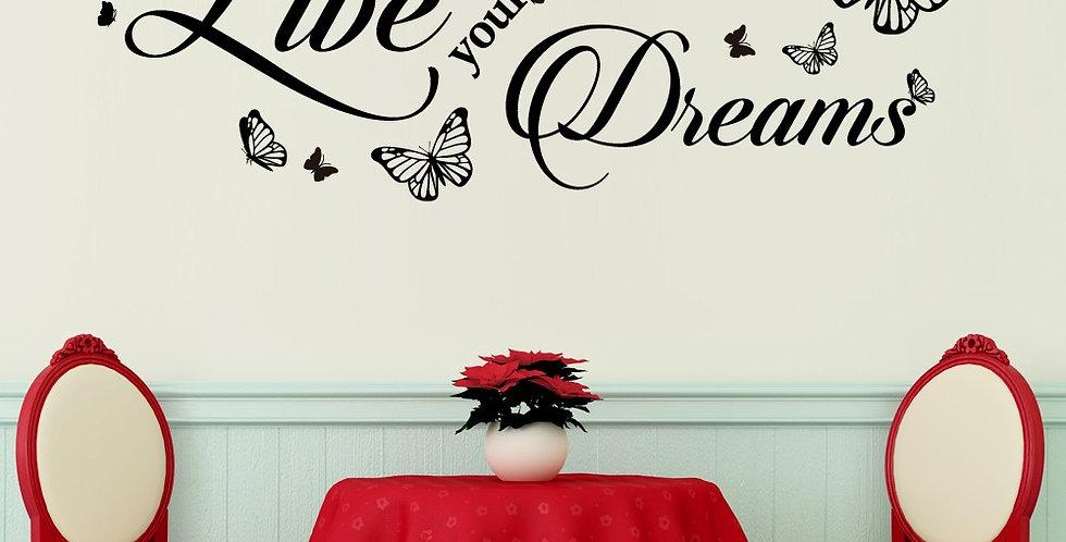 Dream Quote WALPLUS, Sticker, 75x60cm