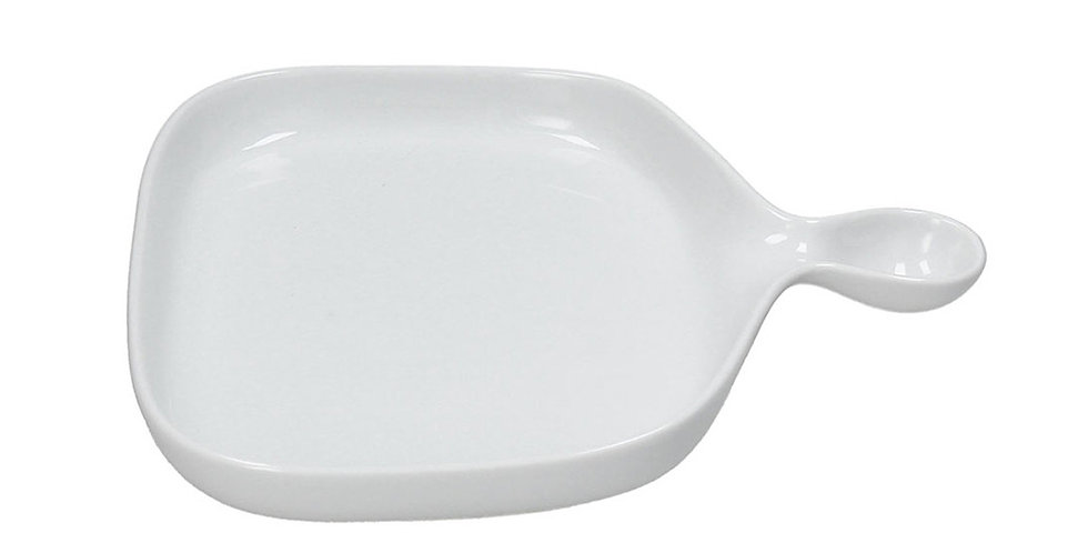 Serving Plate with Handle Tognana Gourmet, Porcelain, Rectangle, 28x25cm