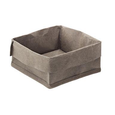 Bread Basket Leone, Paper, Green, 1 pc, 14x14x10cm