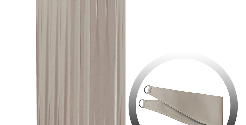 Blackout Curtain with 1 Tie, Middle Brown, 144x250cm