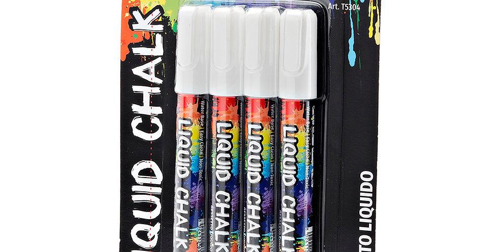 Liquid Chalk Pen Leone, White, 4 pcs, 6mm