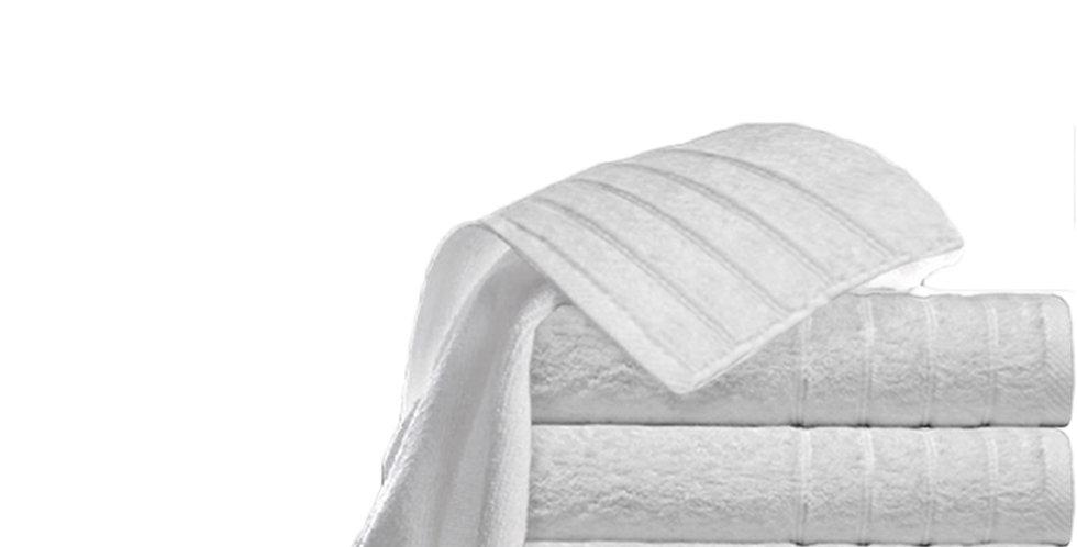 Hand Towel Fragente, White, Stripes Pattern, 16/1, 550gr/m², 30x50cm
