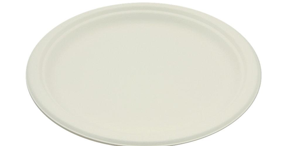 Disposable Plate Sabert, Round, White, Biodegradable, Ø26cm